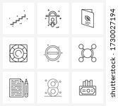 set of 9 ui icons and symbols...