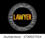 lawyer word cloud collage  law... | Shutterstock .eps vector #1730027524