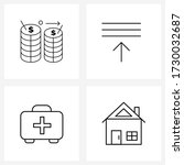 ui set of 4 basic line icons of ...