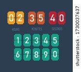 flip countdown clock icon... | Shutterstock .eps vector #1730037637