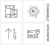 mobile ui line icon set of 4...