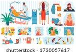 beauty procedures  skin care... | Shutterstock .eps vector #1730057617