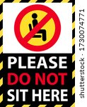 please do not sit here to... | Shutterstock .eps vector #1730074771