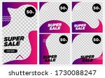 set of sale banner template... | Shutterstock .eps vector #1730088247