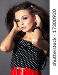 portrait   woman with long...   Shutterstock . vector #17300920