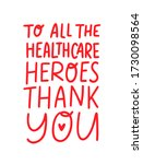 thank you to all the healthcare ... | Shutterstock .eps vector #1730098564