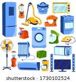 home appliances  set of... | Shutterstock .eps vector #1730102524