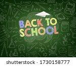 back to school vector...   Shutterstock .eps vector #1730158777