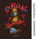 corona and survivor typography... | Shutterstock .eps vector #1730161591