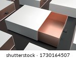 white gift box top view mock up....   Shutterstock .eps vector #1730164507