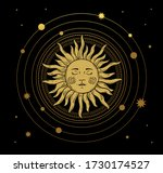 vector illustration in vintage... | Shutterstock .eps vector #1730174527