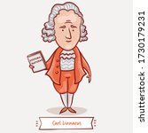 carl linnaeus with his systema... | Shutterstock .eps vector #1730179231