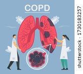 chronic obstructive pulmonary...   Shutterstock .eps vector #1730183257