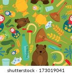 classic russian things seamless ... | Shutterstock .eps vector #173019041