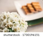 Blossom Pear Branches In Vase...