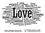 love word cloud illustration | Shutterstock . vector #173020145