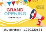 grand opening banner template.... | Shutterstock .eps vector #1730220691