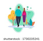 flat illustration of boy and... | Shutterstock .eps vector #1730235241