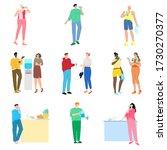 set of different people... | Shutterstock .eps vector #1730270377
