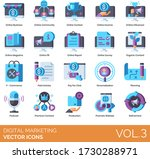 digital marketing icons... | Shutterstock .eps vector #1730288971