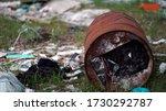 forest pollution. dump garbage...   Shutterstock . vector #1730292787