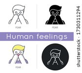 fear icon. human phobia. panic... | Shutterstock .eps vector #1730311294