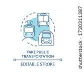 take public transportation... | Shutterstock .eps vector #1730311387