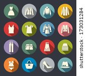 clothes flat icons | Shutterstock .eps vector #173031284
