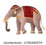 thai royal elephant  graphic...   Shutterstock .eps vector #1730340574