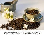 Dry Green Tea Herbs With...