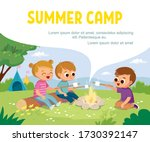 group of kids sitting by...   Shutterstock .eps vector #1730392147