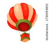 vector cartoon air balloon... | Shutterstock .eps vector #1730393851
