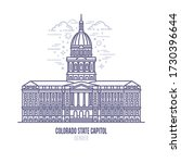 colorado state capitol located... | Shutterstock .eps vector #1730396644