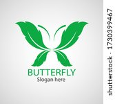 green butterfly leaf template... | Shutterstock .eps vector #1730399467