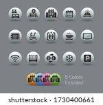 hotel   rentals icons 1 of 2    ... | Shutterstock .eps vector #1730400661