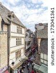 mont saint michel  brittany ... | Shutterstock . vector #173041361