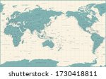 world map   pacific china asia... | Shutterstock .eps vector #1730418811