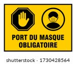 "port du masque obligatoire  ""it ... | Shutterstock .eps vector #1730428564"
