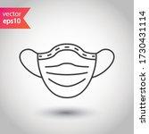 flu mask vector icon. medicine... | Shutterstock .eps vector #1730431114