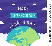 happy earth day celebration... | Shutterstock .eps vector #1730433394