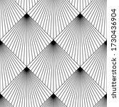 art deco pattern. vector black... | Shutterstock .eps vector #1730436904