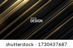 black and golden sliced surface.... | Shutterstock .eps vector #1730437687