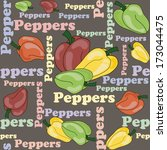 vector seamless background with ... | Shutterstock .eps vector #173044475