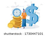 woman save time  make money  ... | Shutterstock .eps vector #1730447101