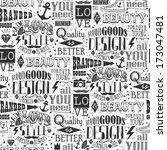 seamless  pattern of vintage... | Shutterstock .eps vector #173047481