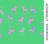 horizontal simple  of unicorns... | Shutterstock . vector #1730483224