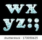 mineral water letter set...   Shutterstock . vector #173050625