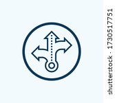 three way direction arrow icon... | Shutterstock .eps vector #1730517751