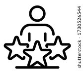 Talent Employer Icon. Outline...
