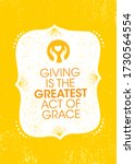 giving is the greatest act of... | Shutterstock .eps vector #1730564554